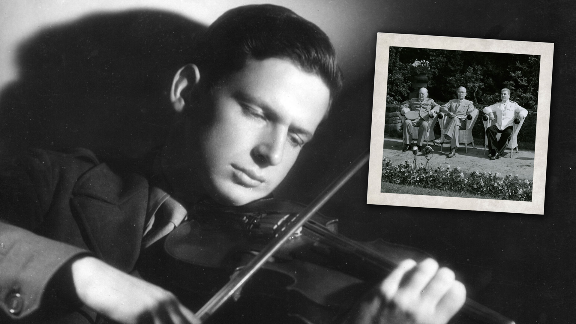 Still image from the film The Rifleman's Violin
