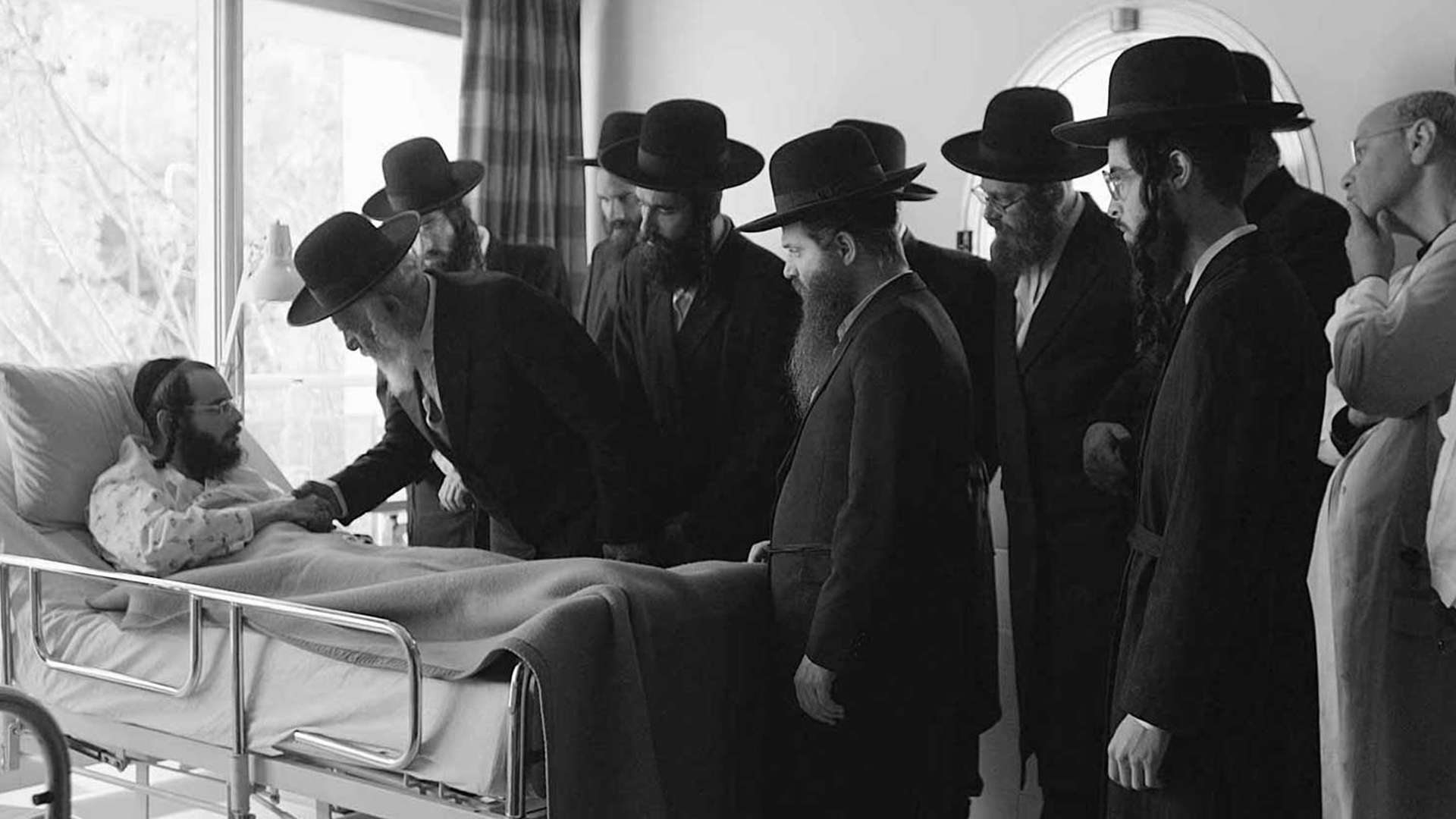Still image from the film Tikkun
