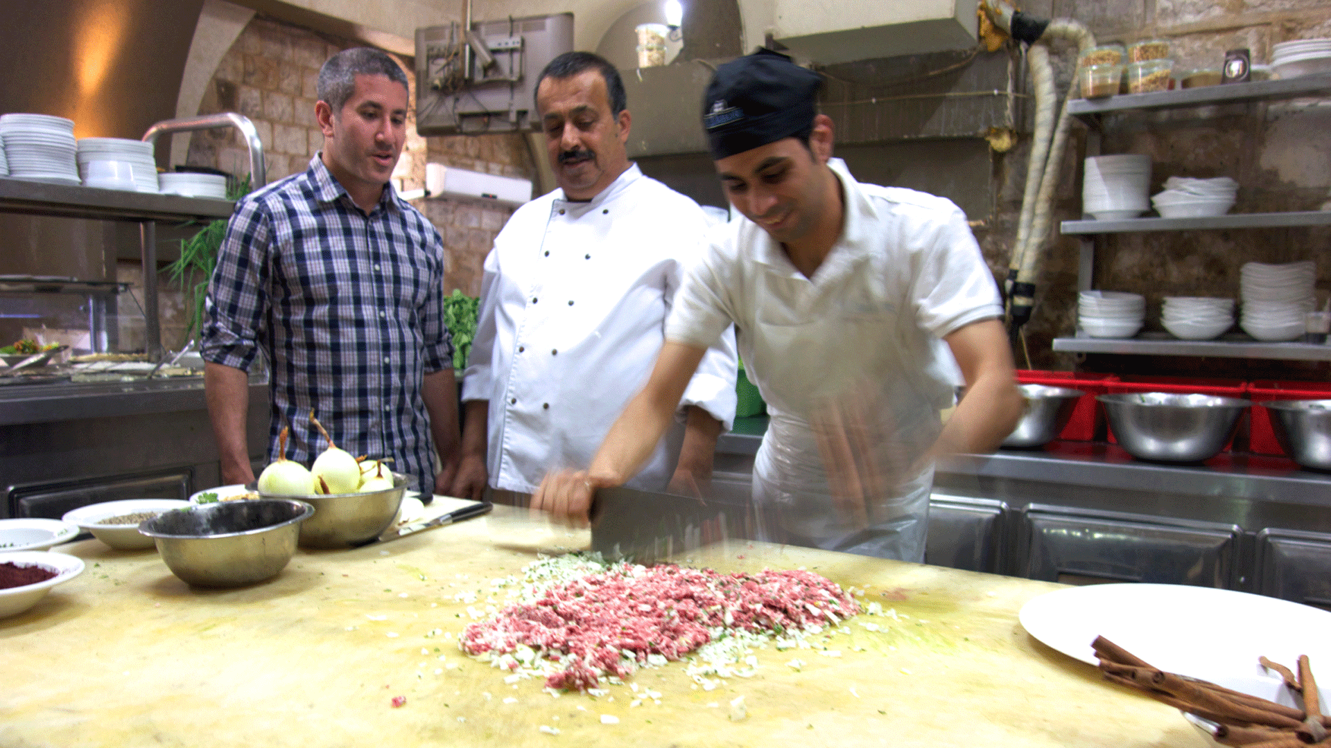 Still image from In Search of Israeli Cuisine